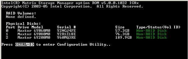 RAID Intel S2400SC2 - Swiftcurrent Pass