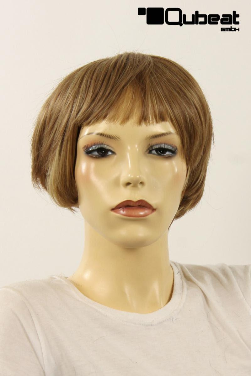 Perücken Damen Kurz Blond Kanekalon Bob Pony Glatt Alltag Stylisch