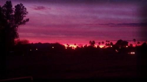 Arizona Fiery Sunset by straddlingthegap
