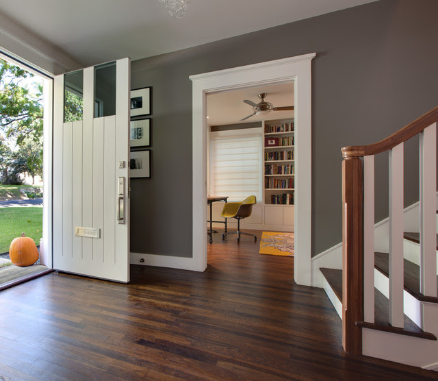 Harris Front Entry - eclectic - entry - austin - by Hugh Jefferson ...