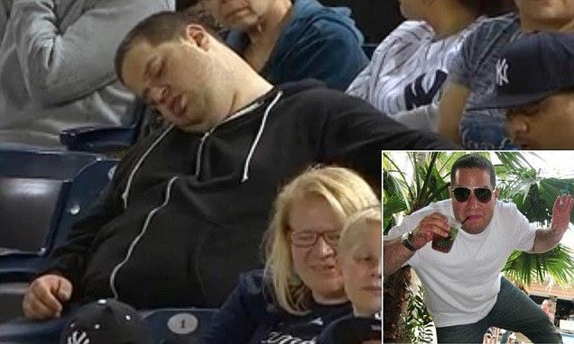 Andrew Rector sleeping yankees fan ***COMPOSITE***