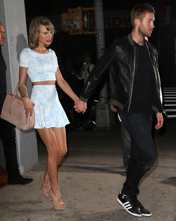 Taylor Swift e Calvin Harris (Foto: INF/The Grosby Group)