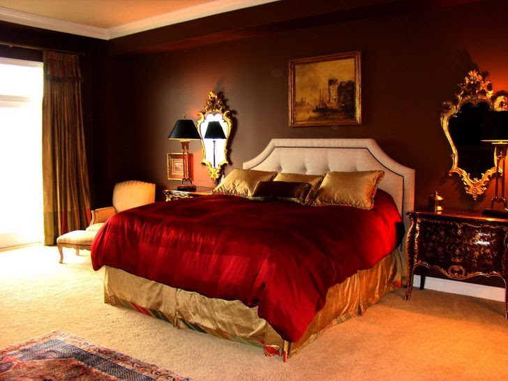 Master Bedroom Design Elegant Red Bedroom Paint