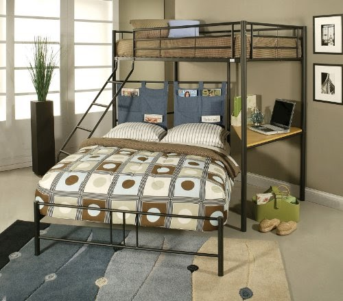 Full Loft Beds Acme 02030 Winona Twin Full Bunk Bed With