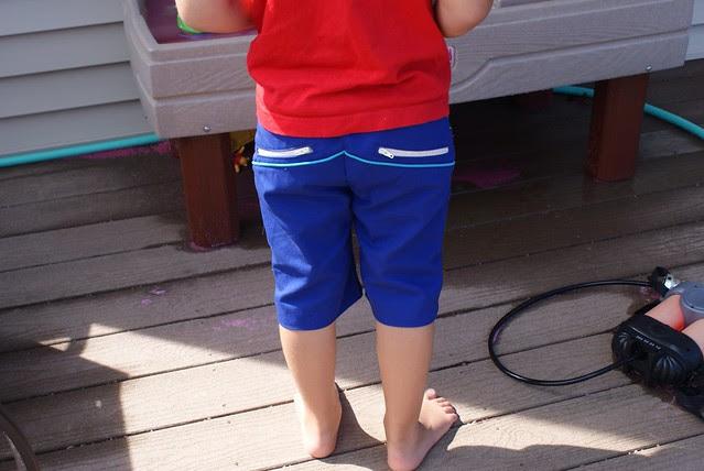 Blue W Pants