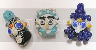 Phoenician Style Lampwork Beads - FireSeed