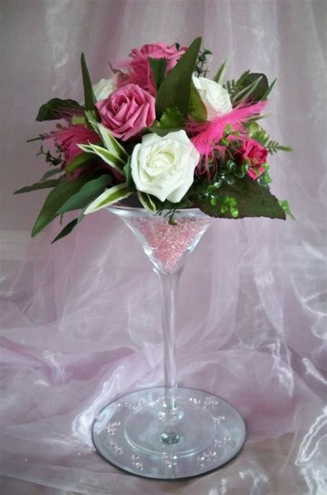 hire martini glass vase centrepiece wedding party