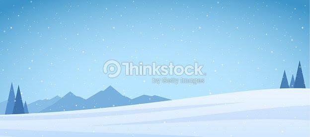 ベクトル イラスト 冬期積雪山松やフィールド ランドス ケープ ベクトル