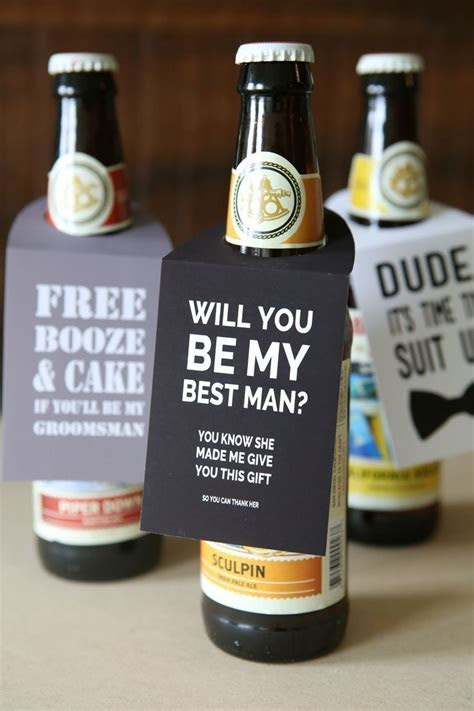 "You HAVE To See This DIY ""Will You Be My Groomsmen"" Beer"