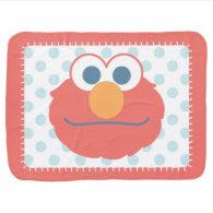 Baby Elmo Face Stroller Blanket