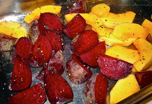 Roasted Beetroot, Pink Grapefruit & Pumpkin Salad 1