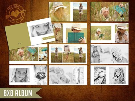 8x8 Mod Album Template for Photographers. $25.00, via Etsy
