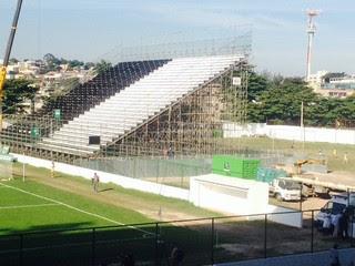 Aré destinada para visitantes na Arena Botafogo (Foto: Marcelo Baltar)