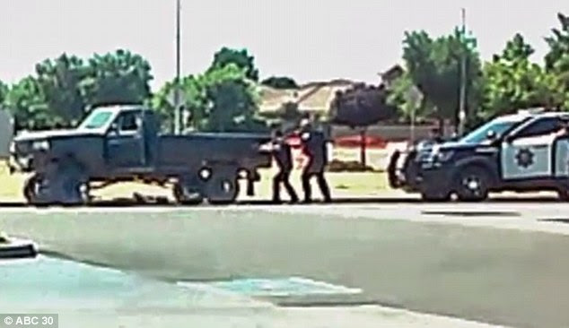 Cellphone footage shows Dylan Noble, 19, being gunned down by cops at a Fresno gas station after they pulled him over for speeding on June 24
