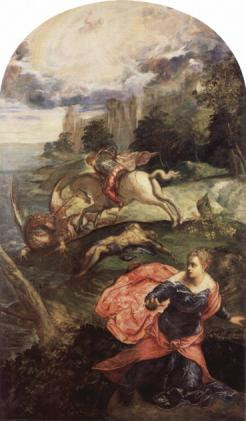 St. George and the Dragon, Tintoretto, 1560