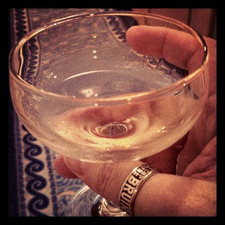Free champagne? Um, ok!