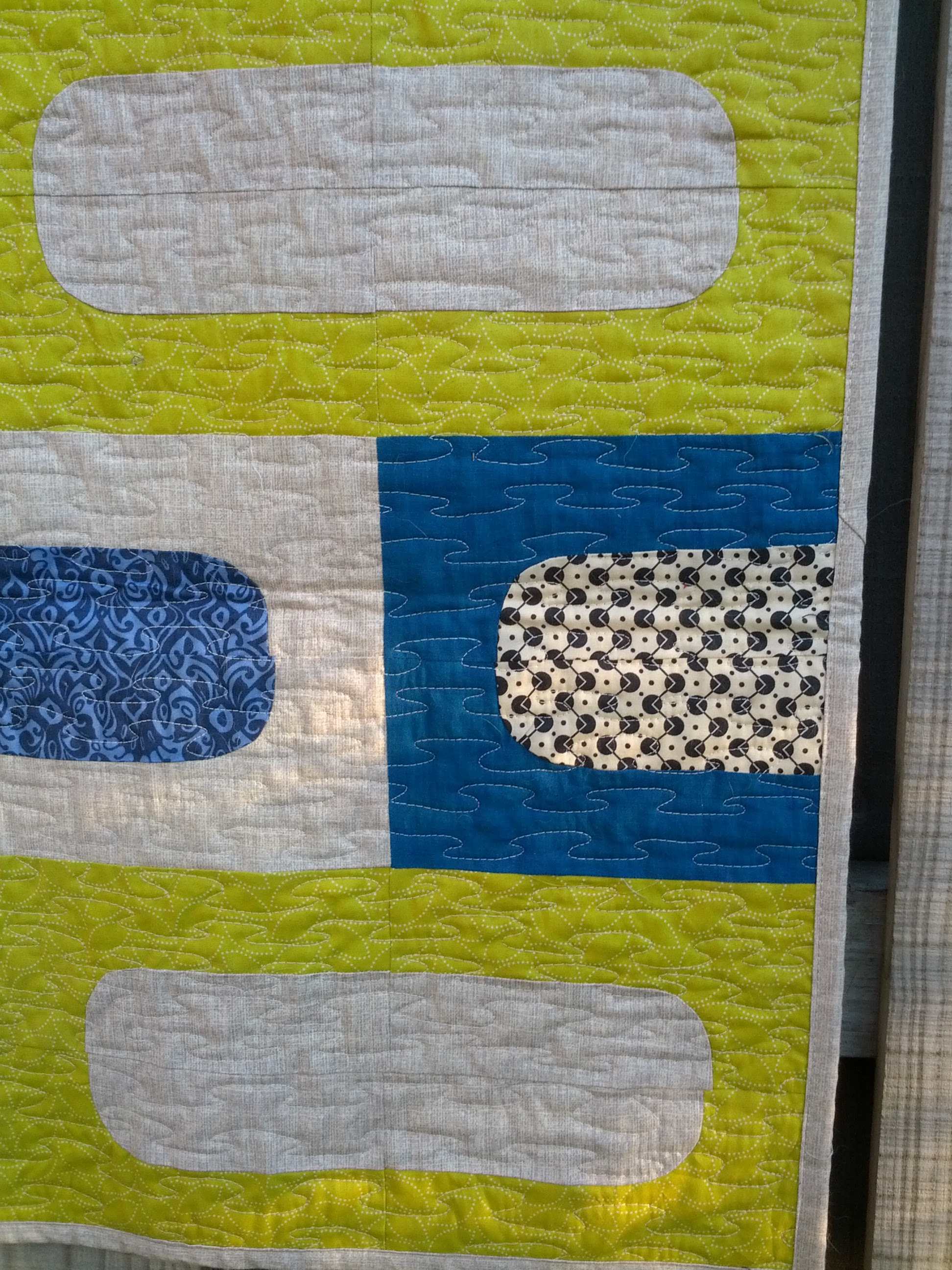 Happy Pills - quilting detail