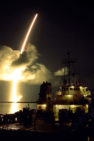 NASA's Cassini spacecraft launches from Cape Canaveral Air Force Station in Florida...on October 15, 1997.