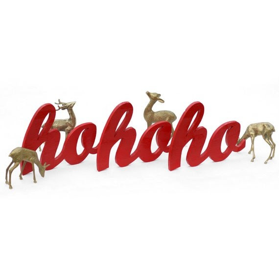 ho ho ho wood sign set of three made from recycled wood