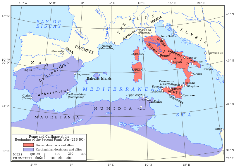 File:Map of Rome and Carthage at the start of the First Punic War.svg
