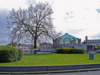 the new Fairlop Oak on the Fullwell Cross roundabout