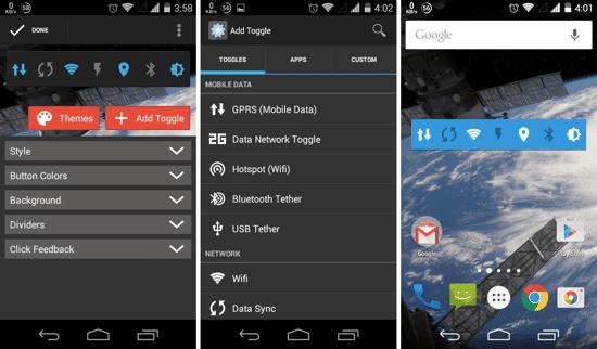 Aplikasi Widget Homescreen Terbaik Android Sebagai Kontrol Pengaturan Sistem