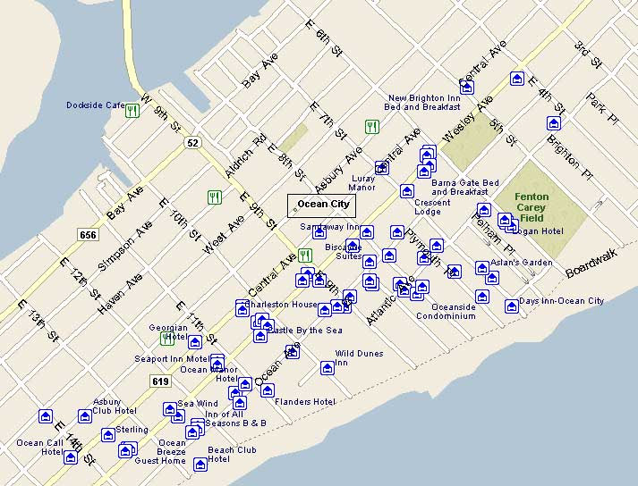 Ocean City Nj Map Of Streets