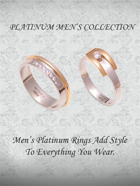 Mens Platinum Wedding Bands   Platinum Rings For Men