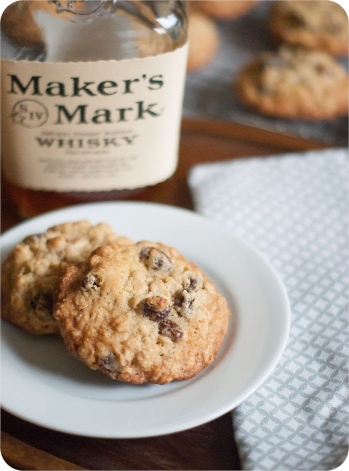 oatmeal bourbon raisin cookies from @bakeat350