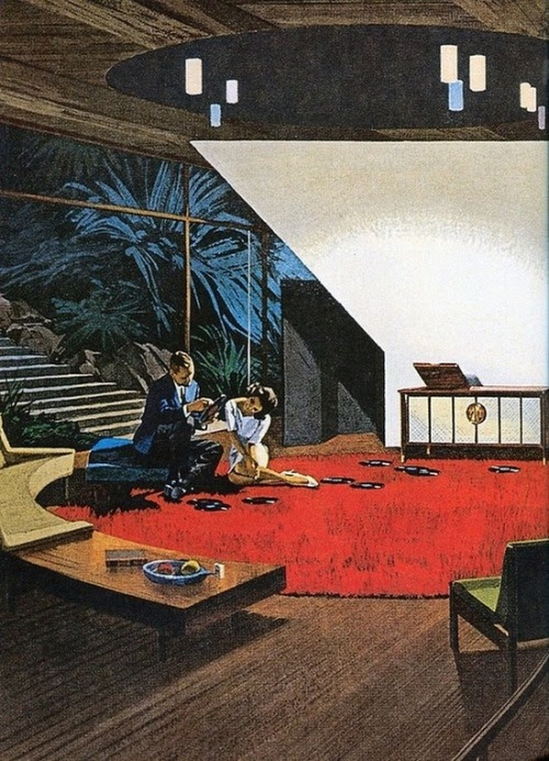 kahuna68:  beatnikdaddio:  the coolest pad.  Just get those rekkids offa the carpet!