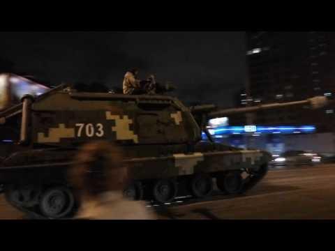 По Киеву движутся более двух десятков артиллерийских установок