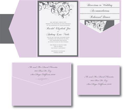 Purple and Silver Wedding Invitation ? A Vibrant Wedding