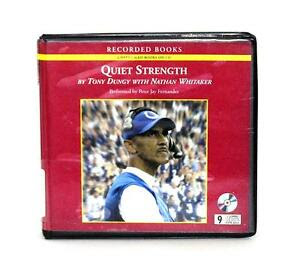 BOOK/AUDIOBOOK CD Tony Dungy NFL Sports Autobiography Role Model QUIET STRENGTH