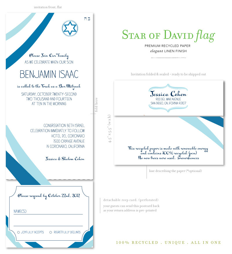 Star of David Flag All-in-One