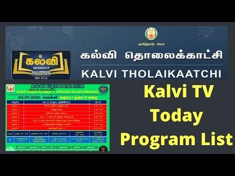 Kalvi tv Today Program list