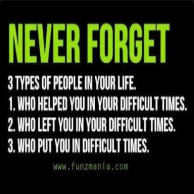 Never Forget 3 Types Of People In Your Life Inspirational Quotes