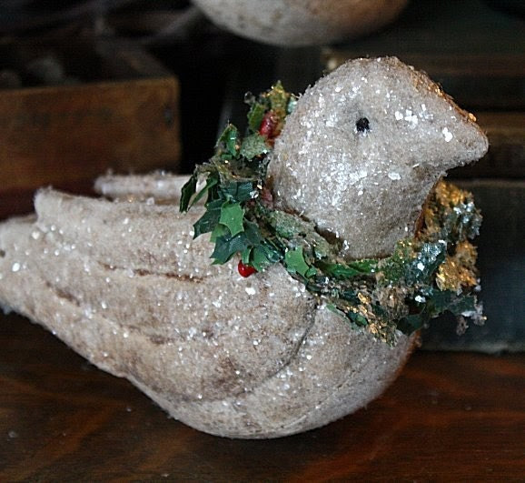 Primitive Christmas Folk Art Dove Ornies E-Pattern