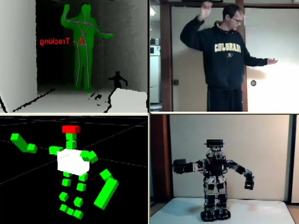 Kinect controlling robot