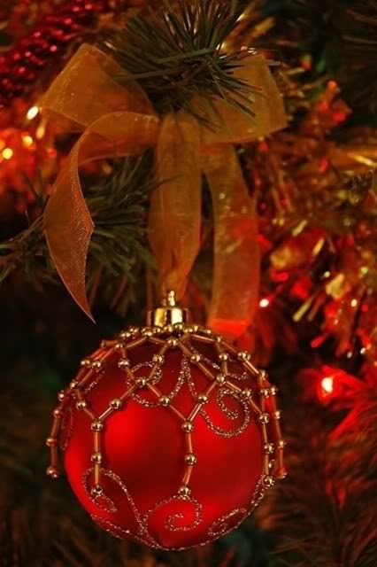 Red Bow Ornament
