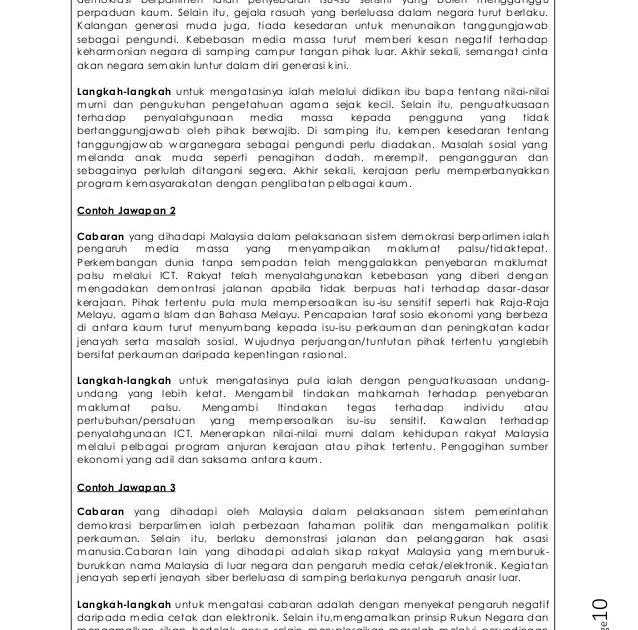 Contoh Kertas Soalan Pt3 Bahasa Melayu 2019