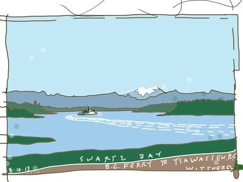 Ferry from Swartz Bay to Tsawassen, BC... by douglaswittnebel