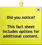This fact sheet now includes options for additional content.