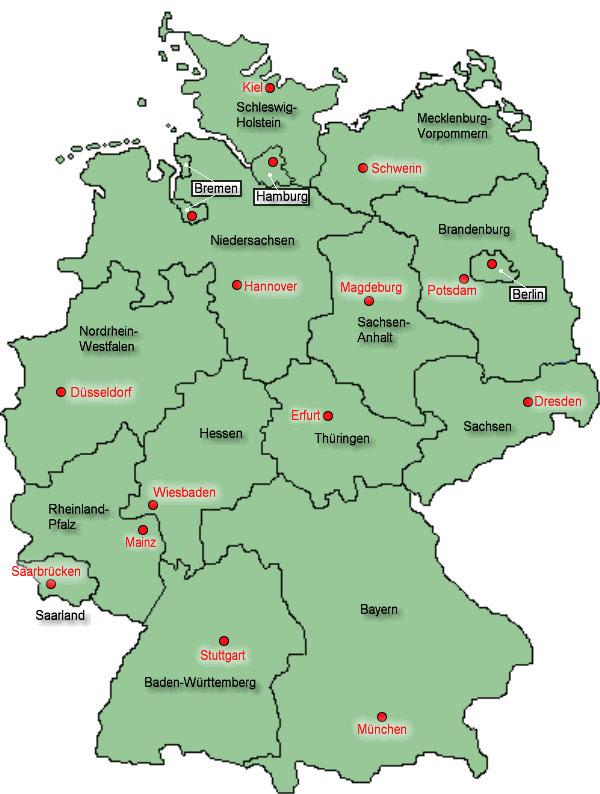 Karte Bundesländer Deutschland Blanko   My blog