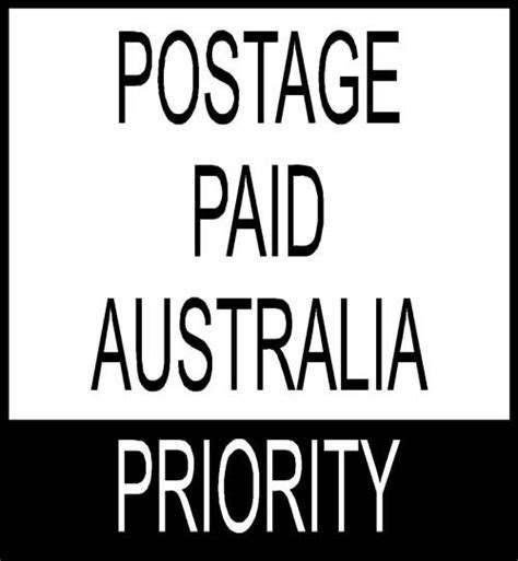 Stock Text Stamps Postage paid Australia PRIORITY