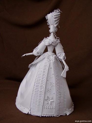 Rococo paper woman