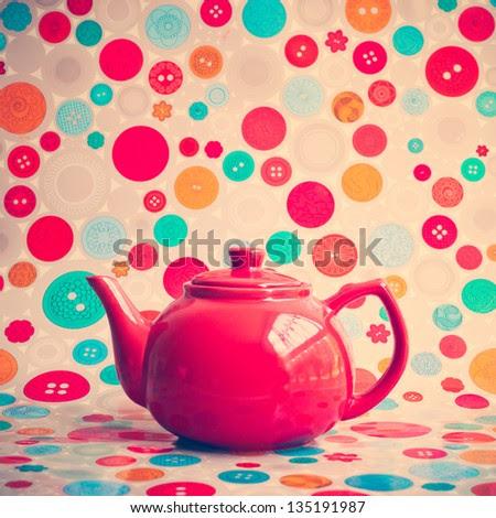 Retro Teapot - stock photo