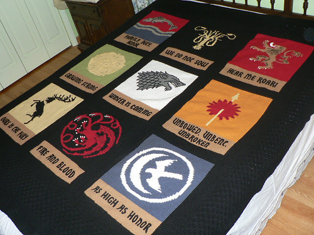 Free knitting pattern for Game of Thrones blanket