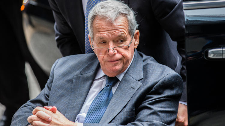 Dennis Hastert leaves court