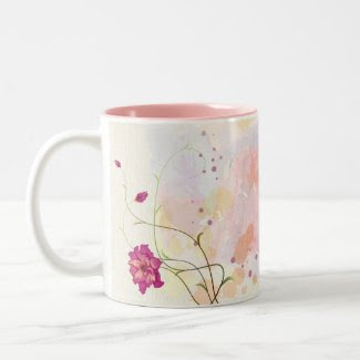 Watercolor Purple Floral Mug