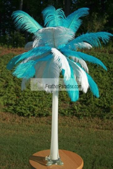 wholesale Mix/Sorted Color Ostrich Feather Centerpieces 6